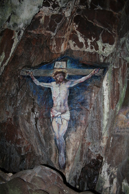 Cave Painting of Christ on the Cross, Davaar Island.