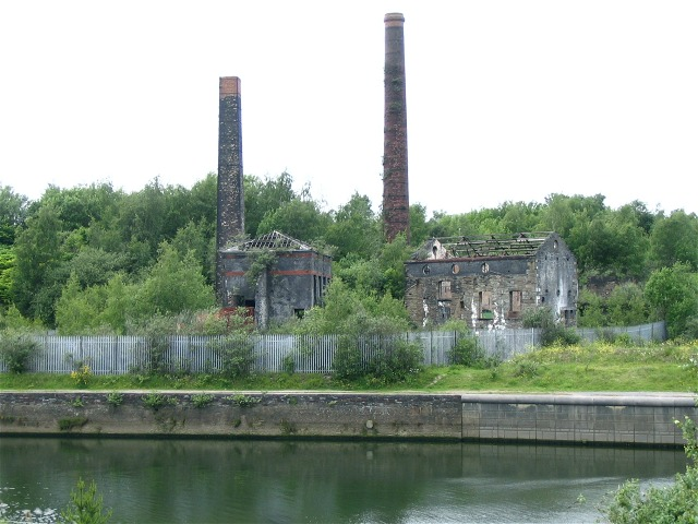 Ruined factories near Landore