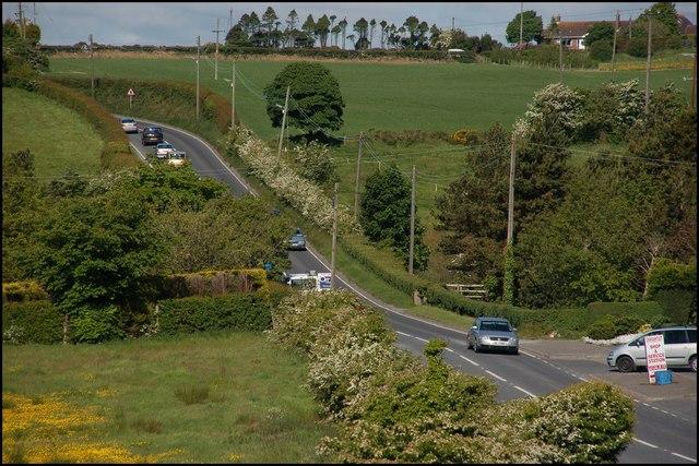 The Ballymiscaw Road near Craigantlet