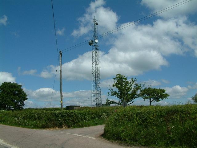 Radio mast near Bondleigh, Devon