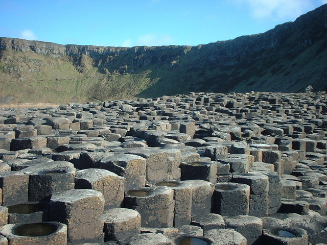 Rock formations at Giants Causeway