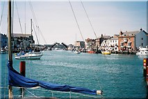 SY6778 : Weymouth: looking towards the lifting bridge by Chris Downer