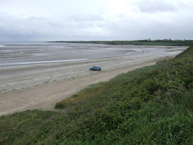 Beach at Gormanston - view south