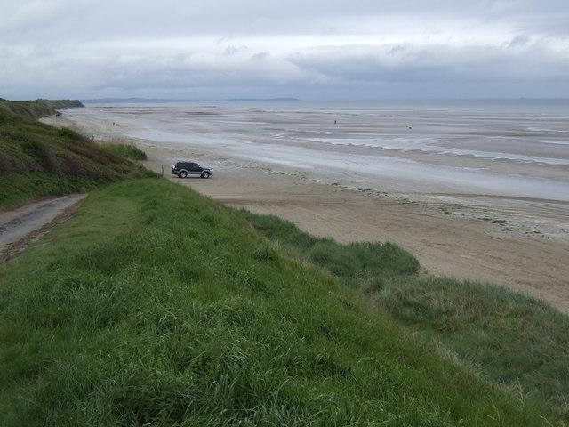 Beach at Gormanston - view north