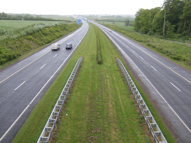 M1 Drogheda section looking south