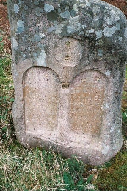 Tombstone on Raasay commemorating two German prisoners of war