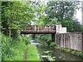 SK6279 : Stables footbridge, Osberton by Geoff Pick