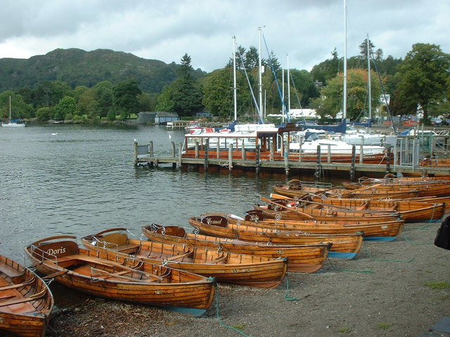 Row Boats for hire at Waterhead