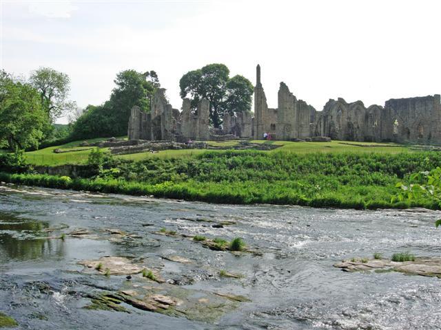 Finchale Priory, seen from Finchale Banks (across the River Wear)