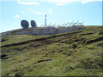 HU3919 : Ward of Scousburgh BT Dishes by Steve Jones
