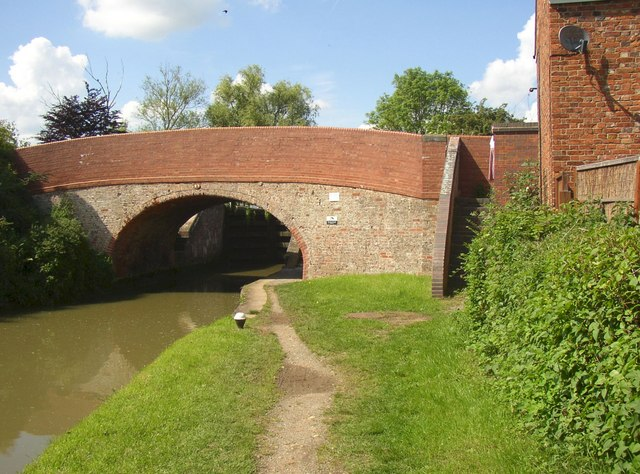 Canal bridge, Whilton Locks by Humphrey Bolton