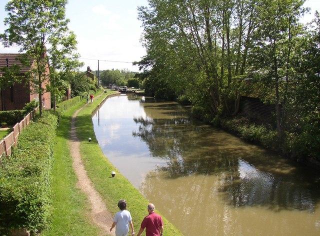 The Grand Union Canal, Whilton Locks, Whilton by Humphrey Bolton