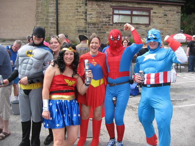 Super heroes in Dobcross