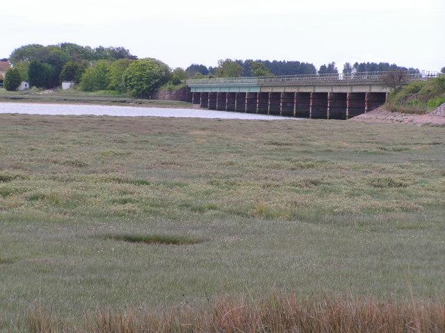 Railway bridge & Saltmarsh