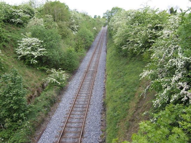 Drogheda to Navan single-track line