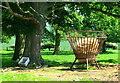 NU1228 : Hay Feeder, Twizell Farm by Lisa Jarvis