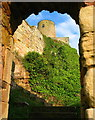 NU1835 : Bamburgh Castle Windmill from St Oswald's Gate by Lisa Jarvis