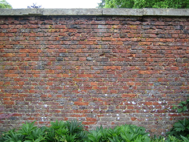 Section of the wall in Scampston Hall walled garden