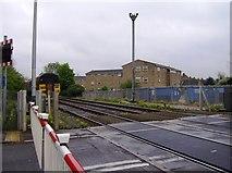 SK8508 : Oakham level crossing by Graham Horn