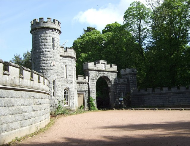 South Entrance to Cluny Castle