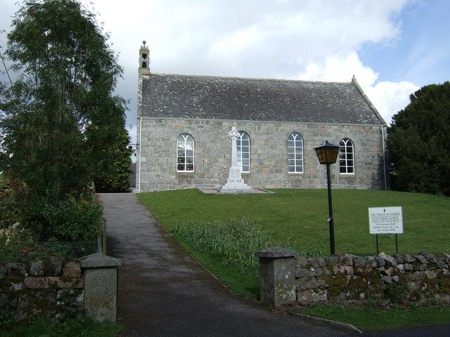 Cluny Parish Church and War Memorial.
