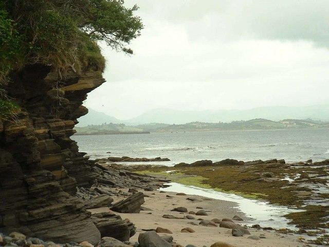 Low cliff on southern shore Doorin peninsula.