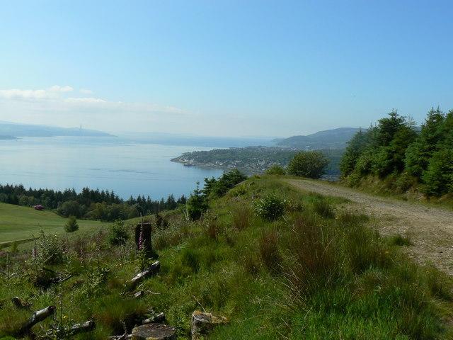 View from the Blairmore Farm - Kilmun Track