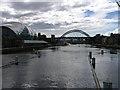 NZ2563 : Tyne Bridge, Sage Building from Millennium Bridge by Donald Brydon