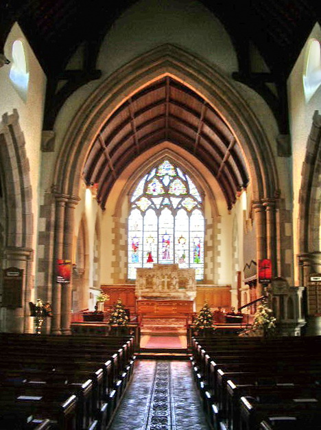 Interior of The Parish Church of St Mary's, Ambleside