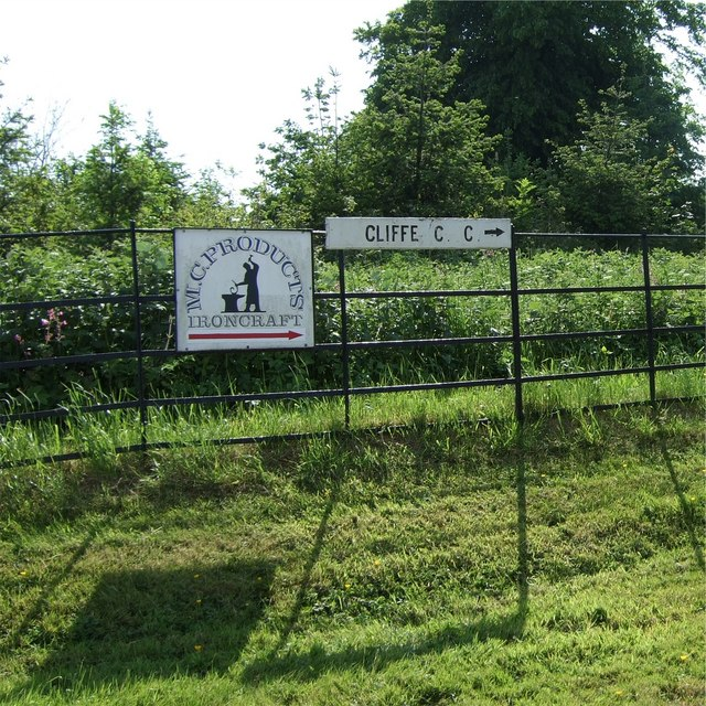Signs by the entrance to Cliffe Hall