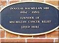 ST6432 : Douglas Macmillan plaque by Graham Horn