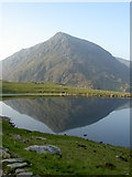SH6459 : Llyn Idwal with Pen yr Ole Wen stealing the limelight by Ian Greig