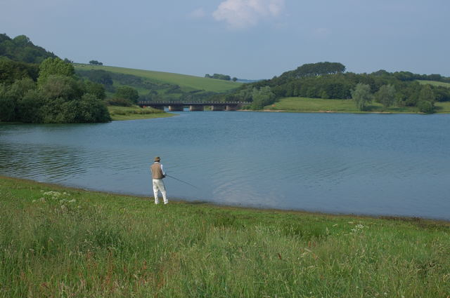 Fishing on Wimbleball Lake