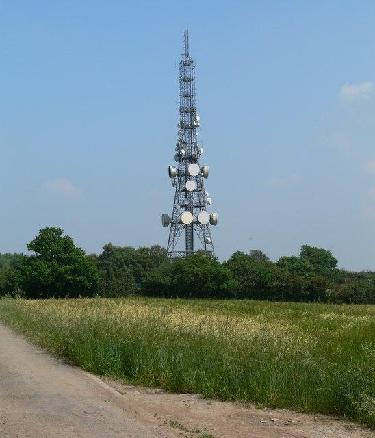 Radio mast at Copt Oak