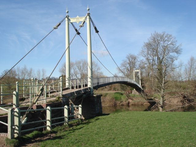 Suspension Footbridge over the River Wye