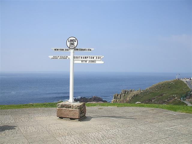 That famous signpost, Land's End