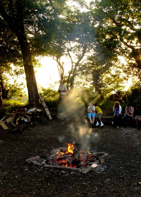 Campfire at Woodhouse Park