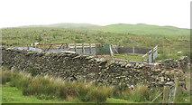 SH9233 : Sheepfold below the Cefnddwygraig Forest by Eric Jones