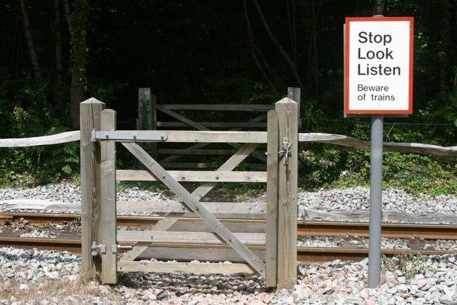 Gated Railway Crossing
