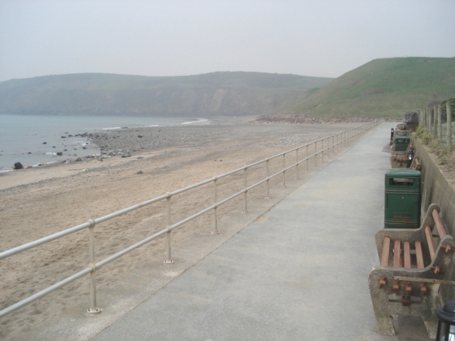 Deserted Aberdaron Seafront on a Misty Day