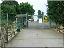 SP5720 : Gate to Bicester Garrison by David Luther Thomas
