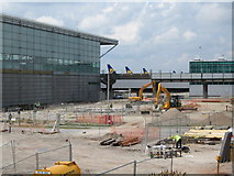 TL5523 : Construction work, Stansted Airport by wfmillar