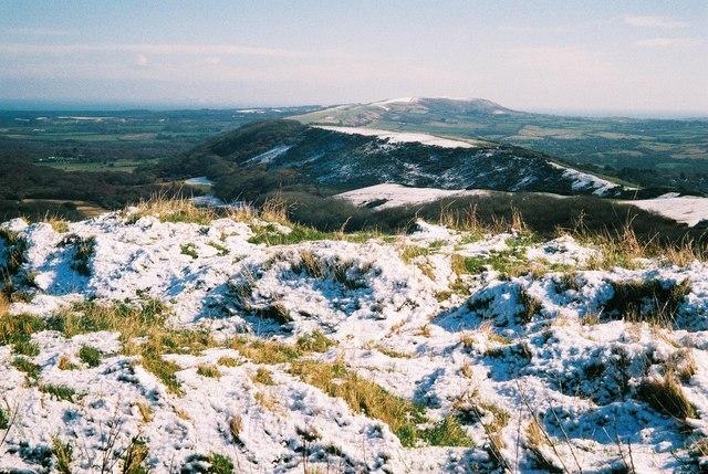 Creech: snowy ridge-top view
