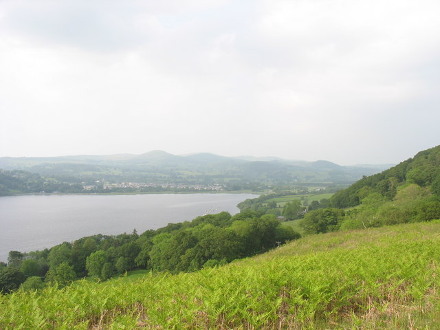 View north-east along the hillside above Llyn Tegid