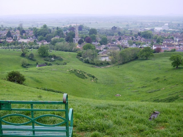 Castle Cary castle remains from Lodge Hill