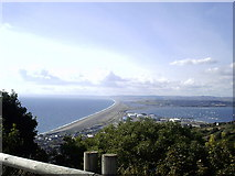 SY6774 : Chesil Beach from Portland by Val Pollard