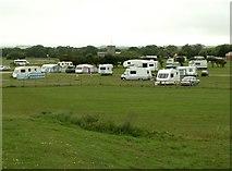 TA1281 : North Cliff Country Park caravan site by John Fielding