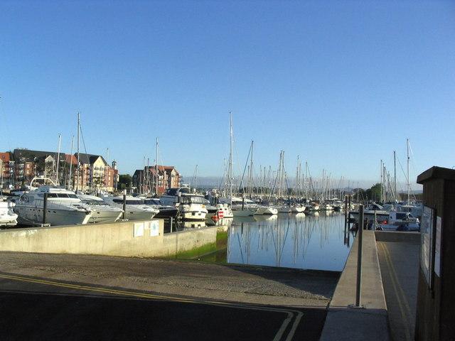 Slipway in Weymouth Marina