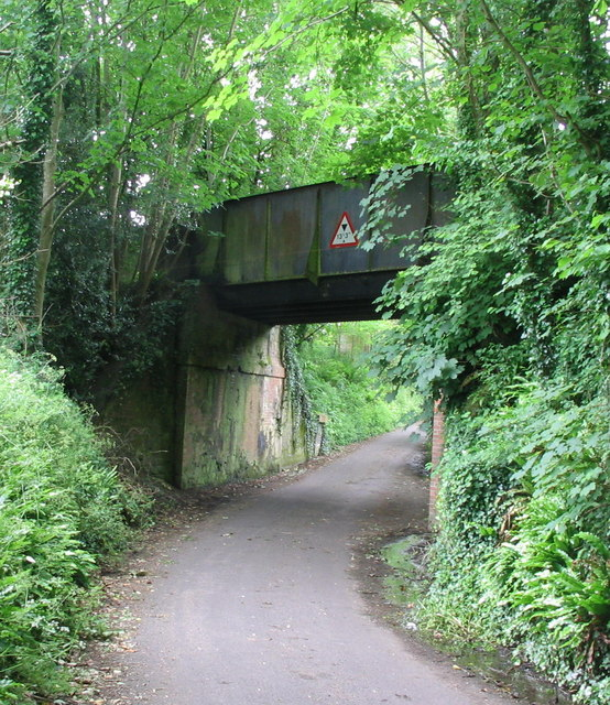 Disused railway bridge near Loders