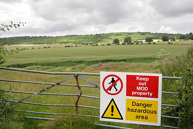 View across Porton MoD danger area